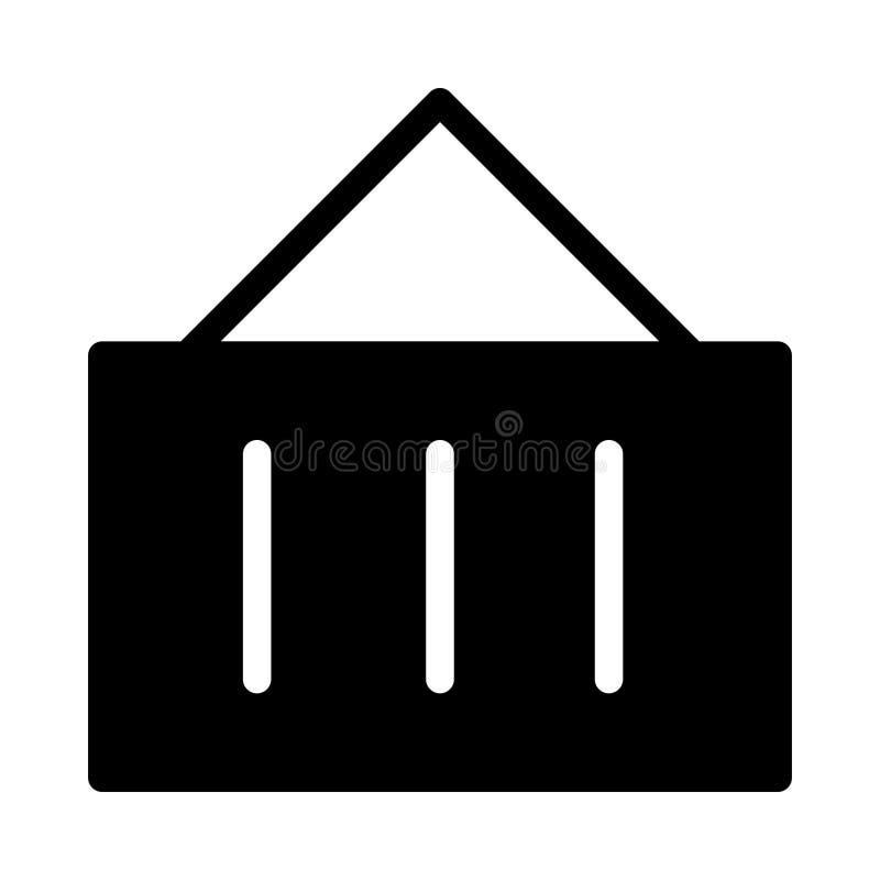 Icona piana di vettore di glifo della gru illustrazione di stock
