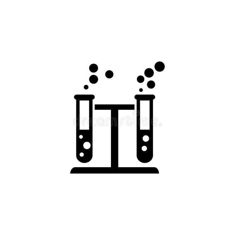Icona piana di vettore di reazione chimica illustrazione di stock