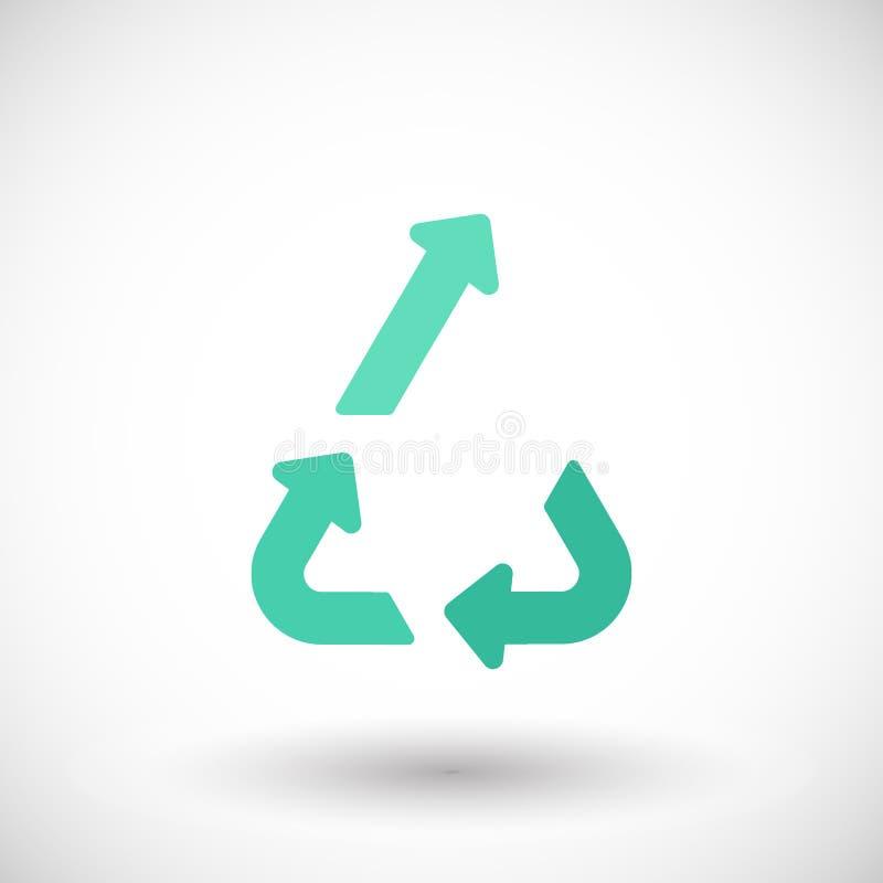 Icona piana di vettore di Upcycling illustrazione vettoriale