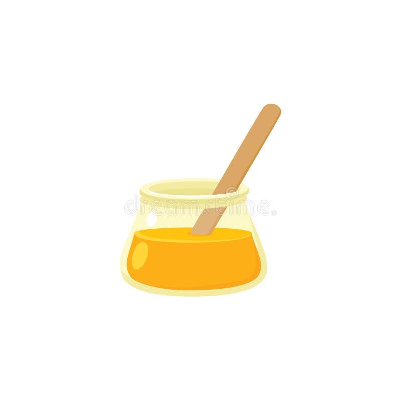 Icona piana di zucchero della pasta, zucchero che incera concetto illustrazione di stock