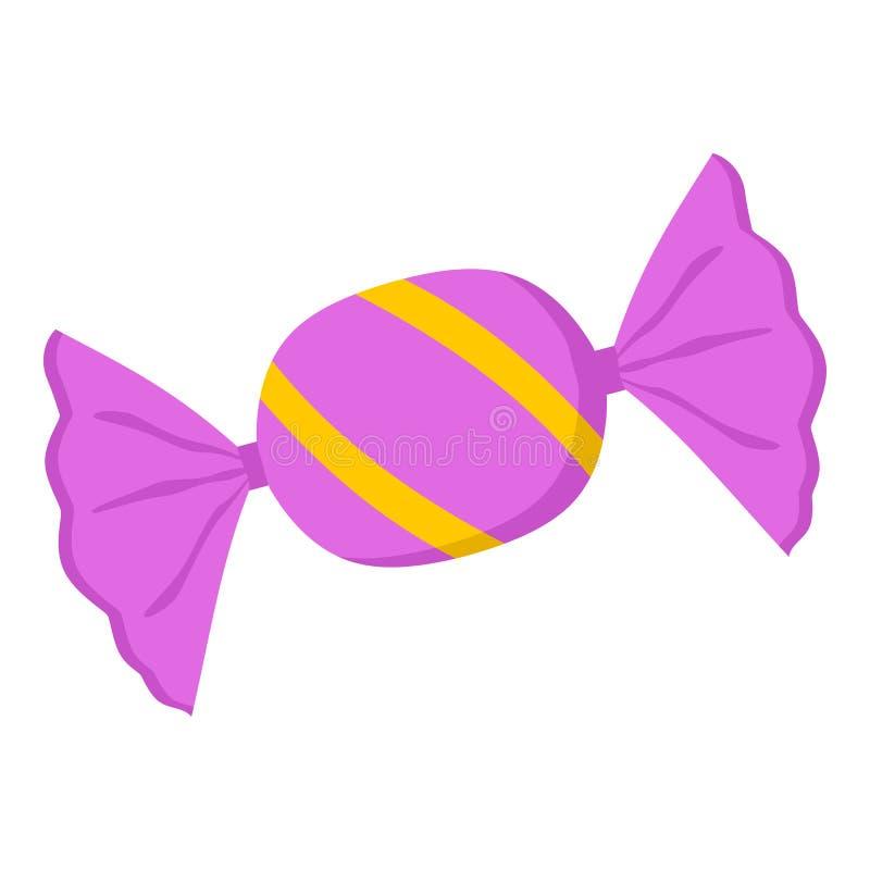 Icona piana dolce rosa di Candy su bianco illustrazione vettoriale