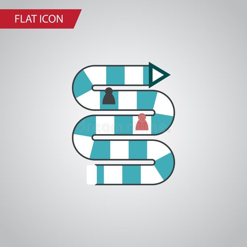 Icona piana isolata del gioco della Tabella L'elemento con diversi giocatori di vettore può essere usato per con diversi giocator illustrazione vettoriale