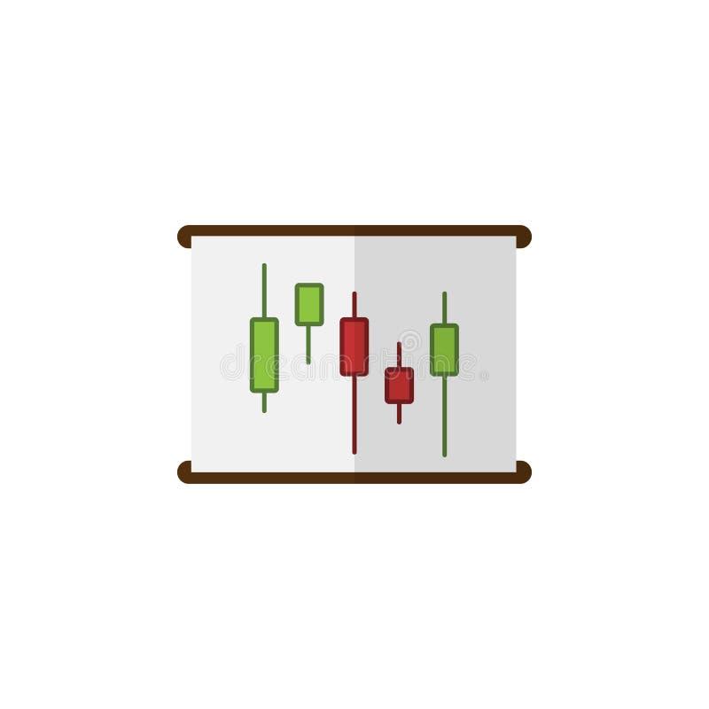 Icona piana isolata del grafico L'elemento di vettore del diagramma può essere usato per il diagramma, il grafico, concetto di pr illustrazione di stock