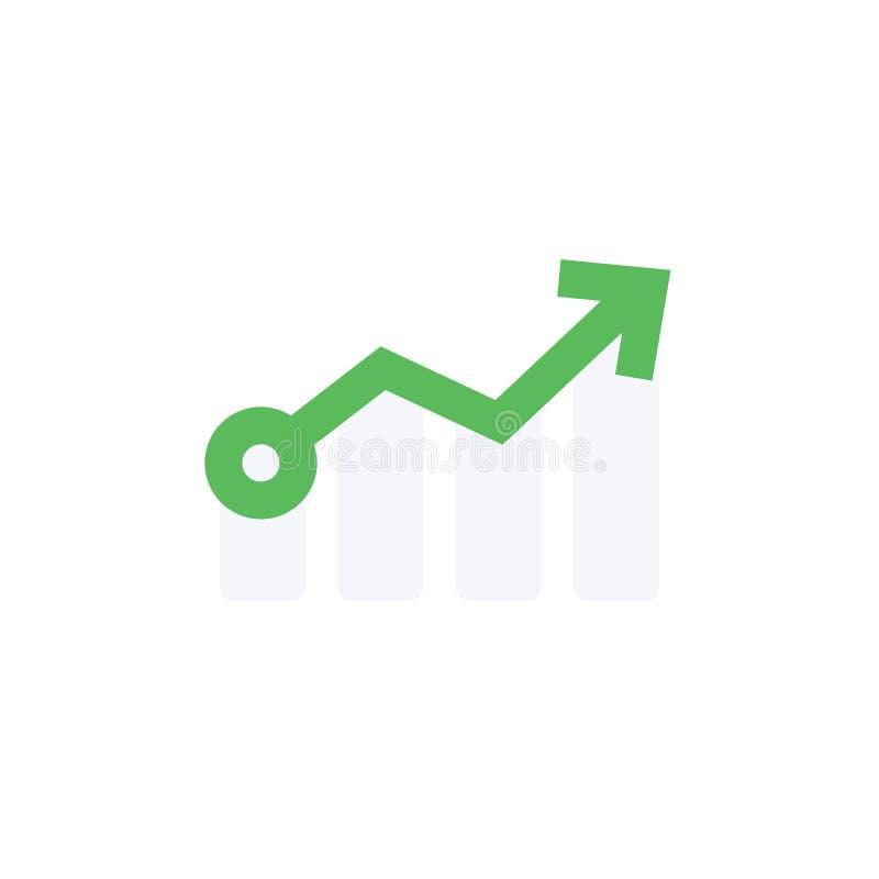 Icona piana isolata della freccia L'elemento di vettore della crescita può essere usato per la crescita, la freccia, concetto di  royalty illustrazione gratis