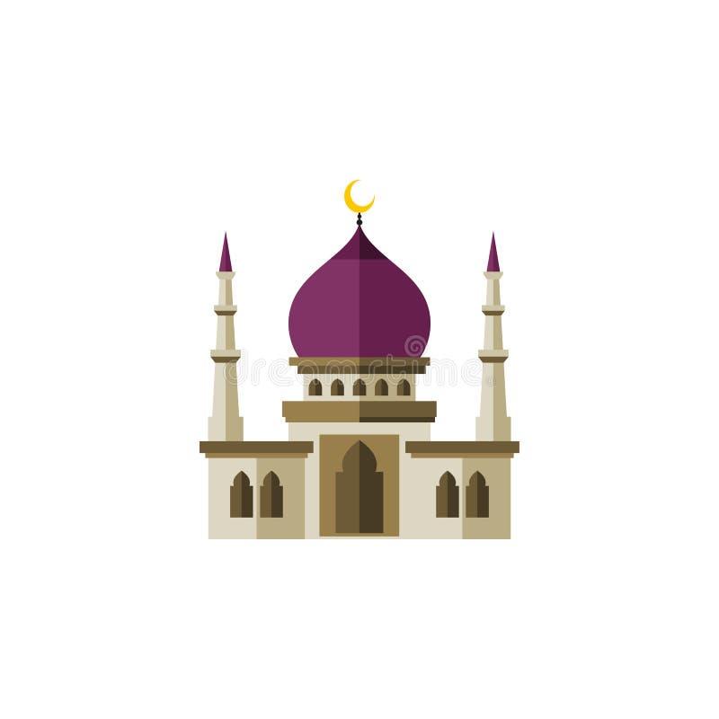 Icona piana musulmana isolata L'elemento tradizionale di vettore può essere usato per i musulmani, tradizionale, concetto di prog royalty illustrazione gratis