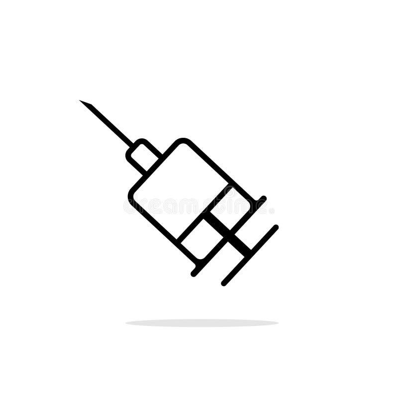Icona piana semplice del cyringe royalty illustrazione gratis