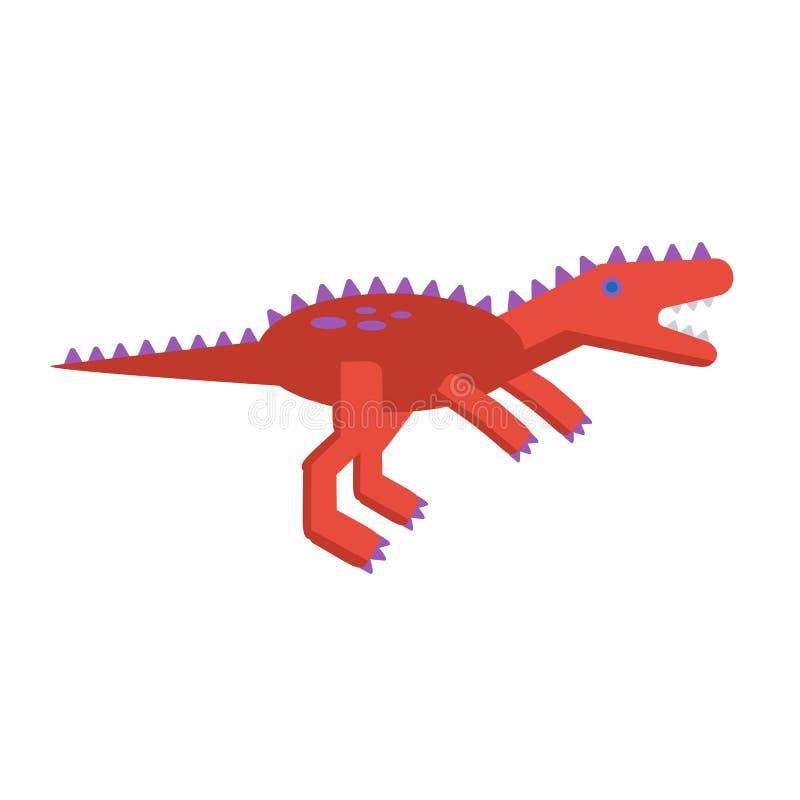 Icona piana semplice di stile del tirannosauro Pittogramma del dinosauro per la stampa sulla maglietta o sulla carta di progettaz illustrazione di stock