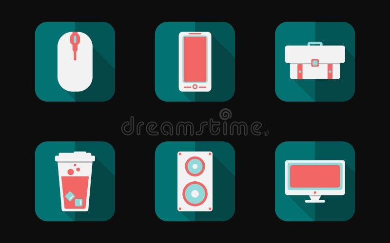 Icona piana semplice stabilita del concetto di tempo libero o di hobby immagini stock
