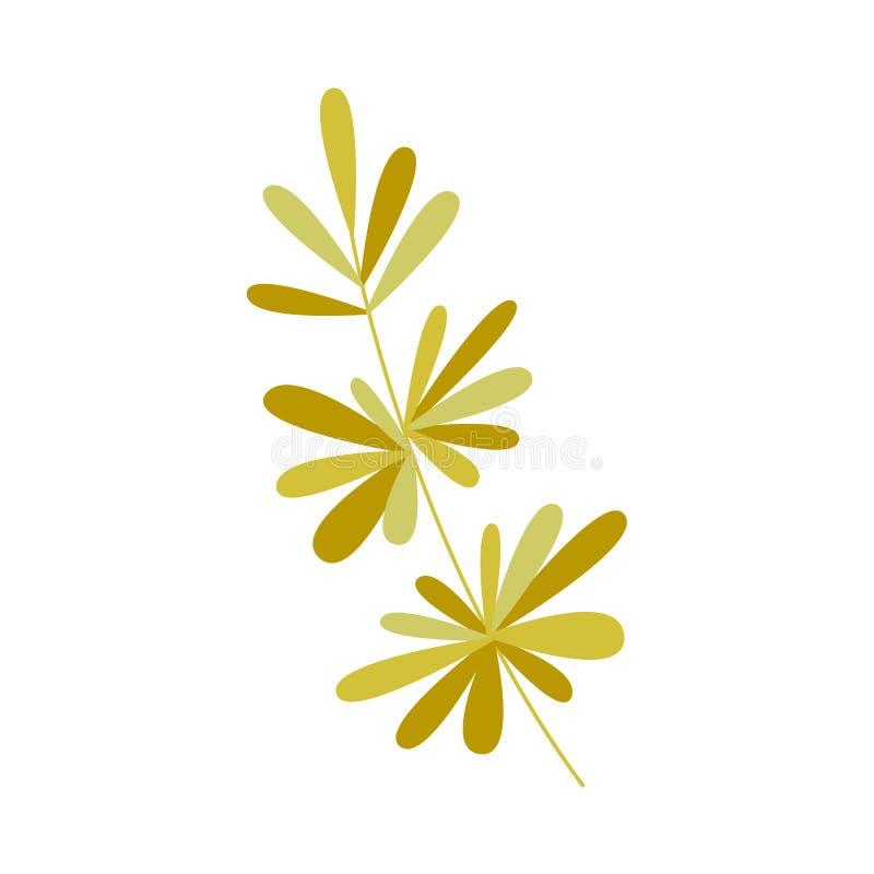 Icona pianamente astratta della pianta verde di vettore illustrazione vettoriale