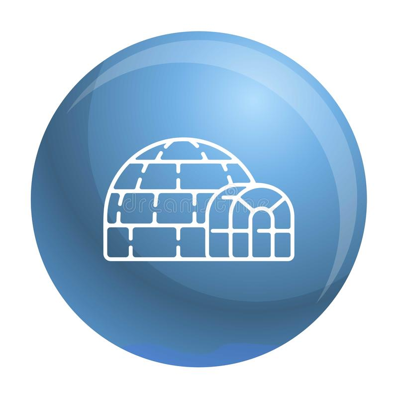 Icona polare dell'iglù, stile del profilo illustrazione di stock