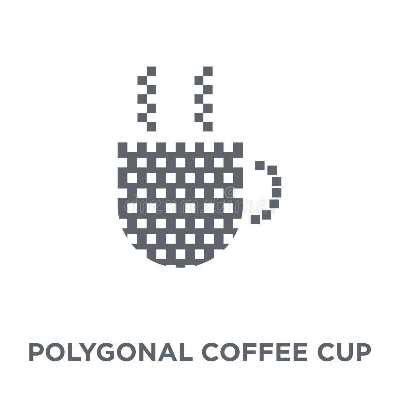 Icona poligonale della tazza di caffè dalla raccolta della geometria illustrazione vettoriale