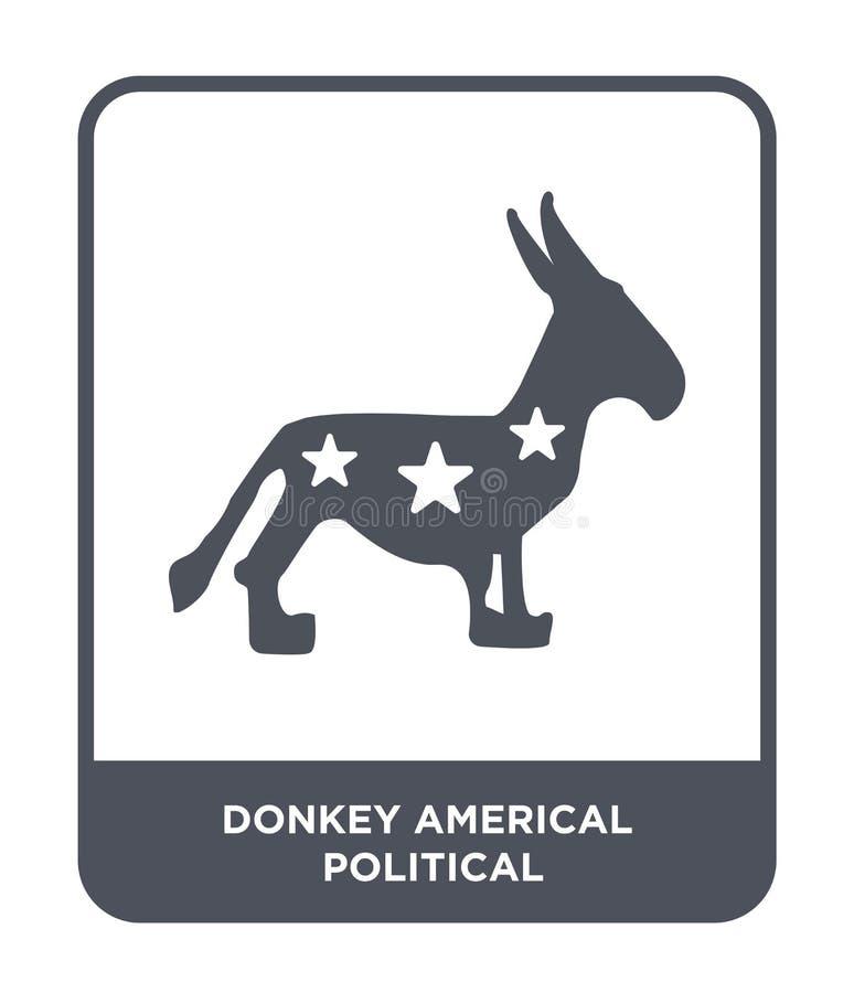 icona politica americal dell'asino nello stile d'avanguardia di progettazione icona politica americal dell'asino isolata su fondo illustrazione di stock