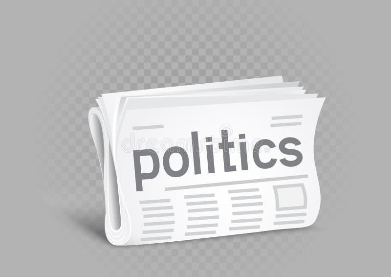 Icona politica del giornale royalty illustrazione gratis