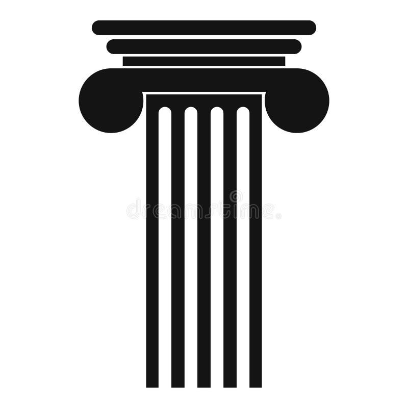 Icona Polyhedral della colonna, stile semplice royalty illustrazione gratis