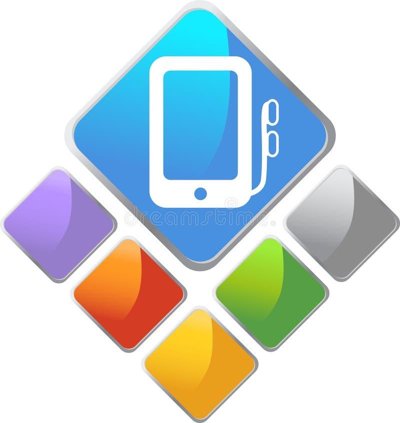 Icona portatile del quadrato dell'unità di media illustrazione vettoriale