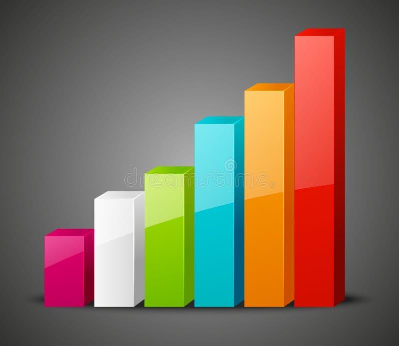 Icona positiva del grafico illustrazione di stock