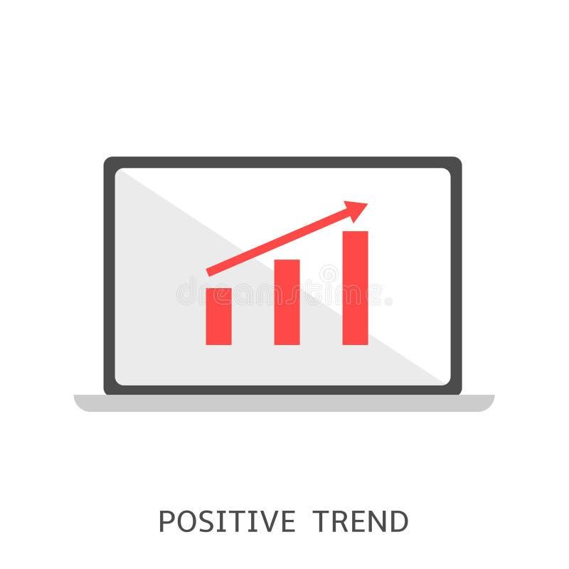 Icona positiva di vettore di tendenza illustrazione di stock