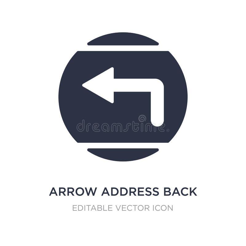 icona posteriore di indirizzo della freccia su fondo bianco Illustrazione semplice dell'elemento dal concetto di UI illustrazione di stock