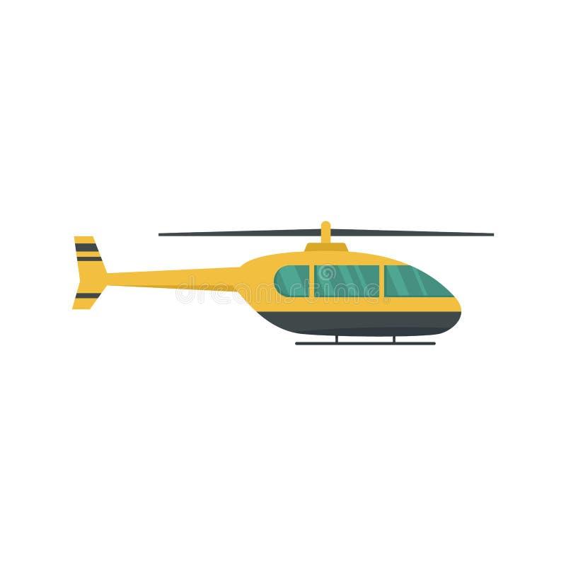 Icona pratica dell'elicottero, stile piano illustrazione vettoriale