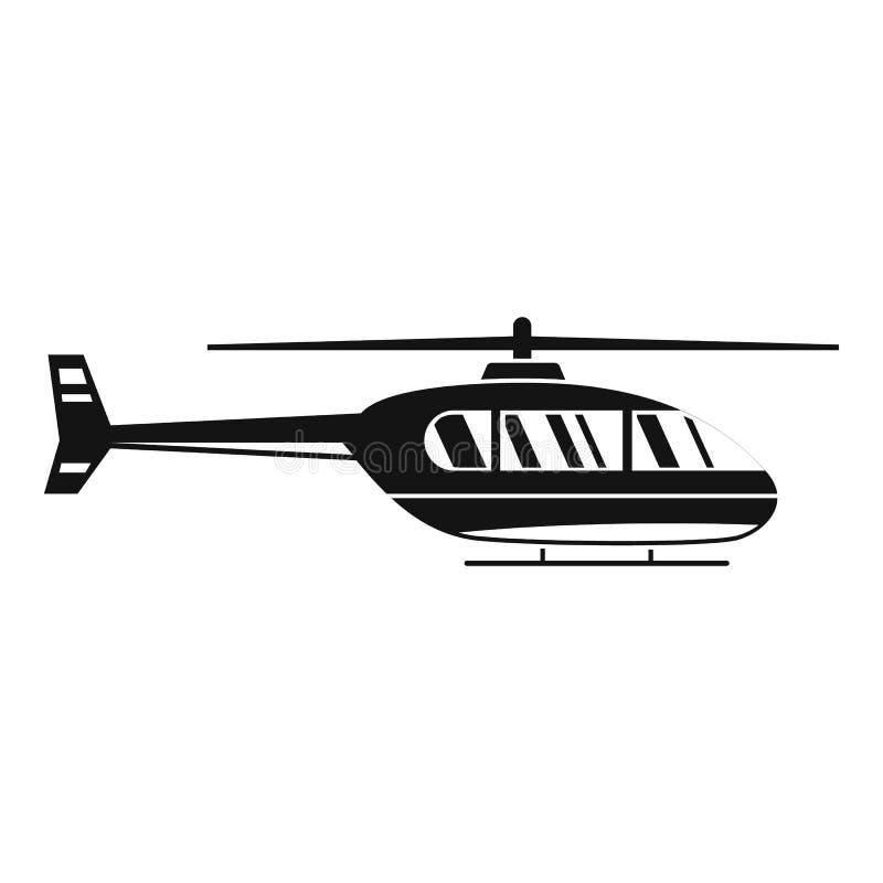 Icona pratica dell'elicottero, stile semplice illustrazione vettoriale