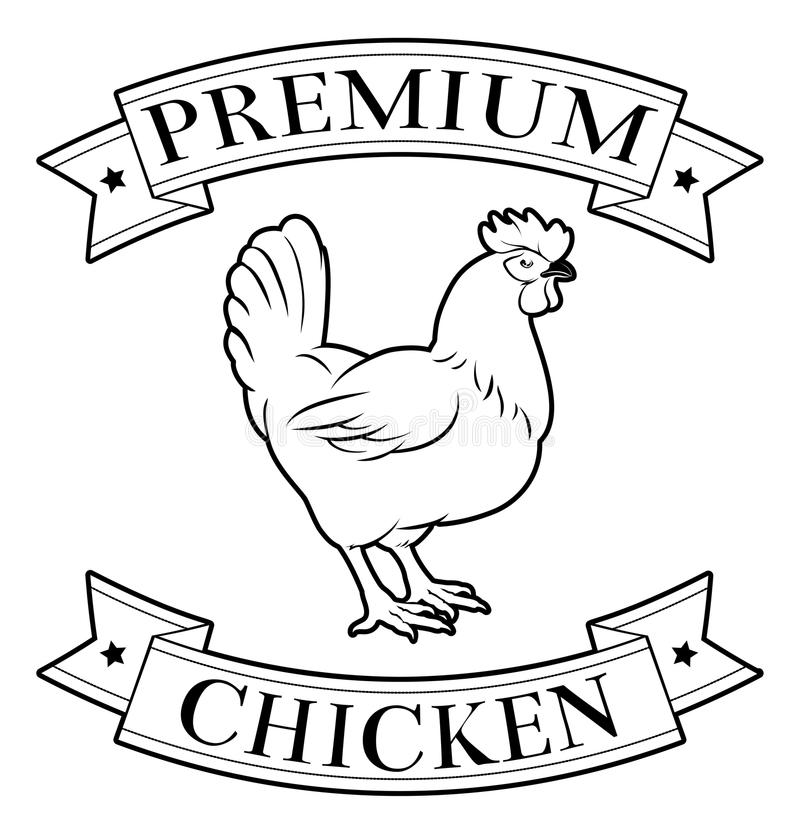 Icona premio del pollo illustrazione vettoriale