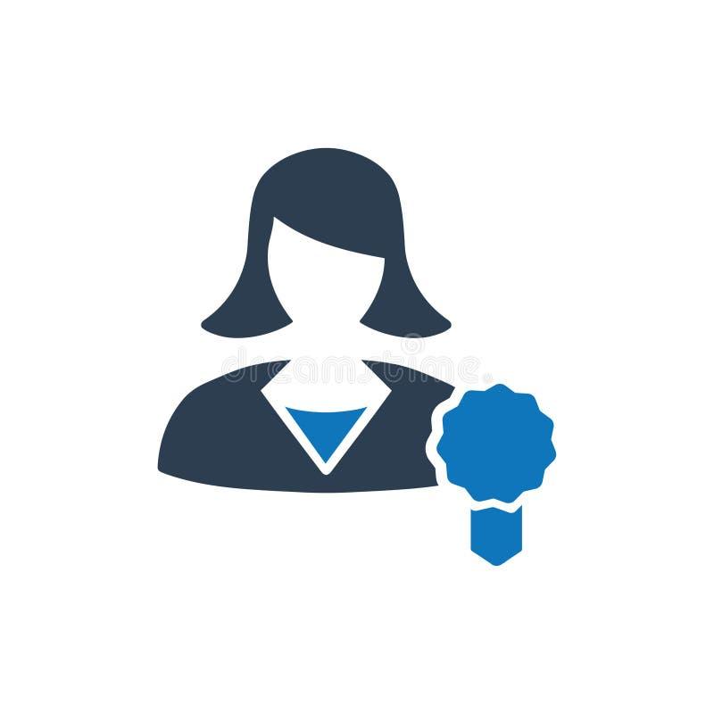 Icona premio dell'utente illustrazione vettoriale