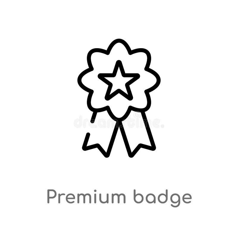 icona premio di vettore del distintivo del profilo linea semplice nera isolata illustrazione dell'elemento dal concetto dei segni illustrazione vettoriale