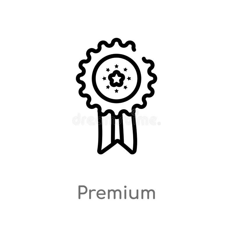 icona premio di vettore del profilo linea semplice nera isolata illustrazione dell'elemento dal concetto di produttivit? Colpo ed royalty illustrazione gratis