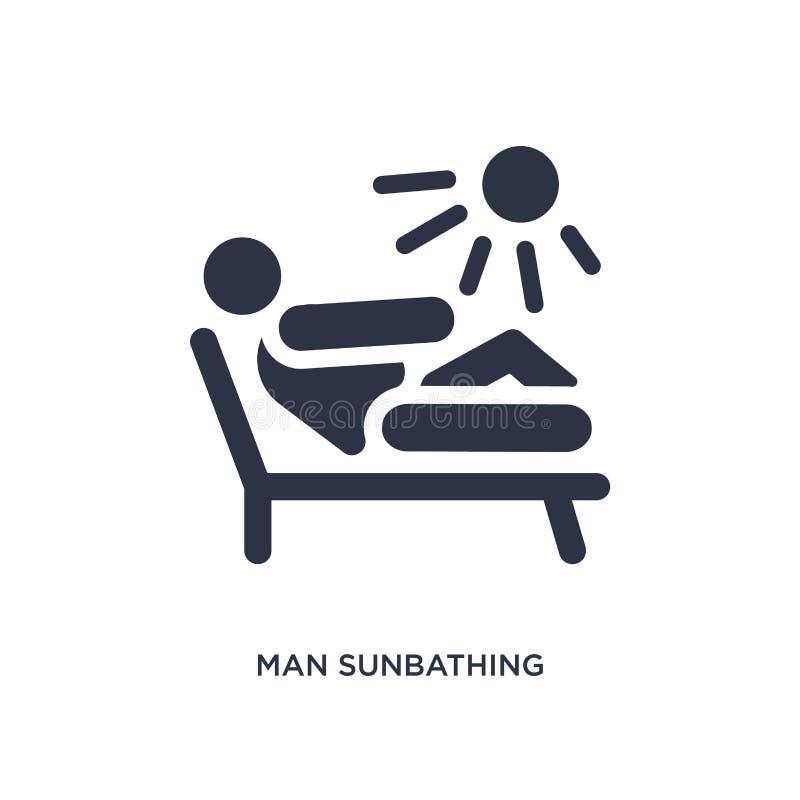 icona prendente il sole dell'uomo su fondo bianco Illustrazione semplice dell'elemento dal concetto di comportamento royalty illustrazione gratis