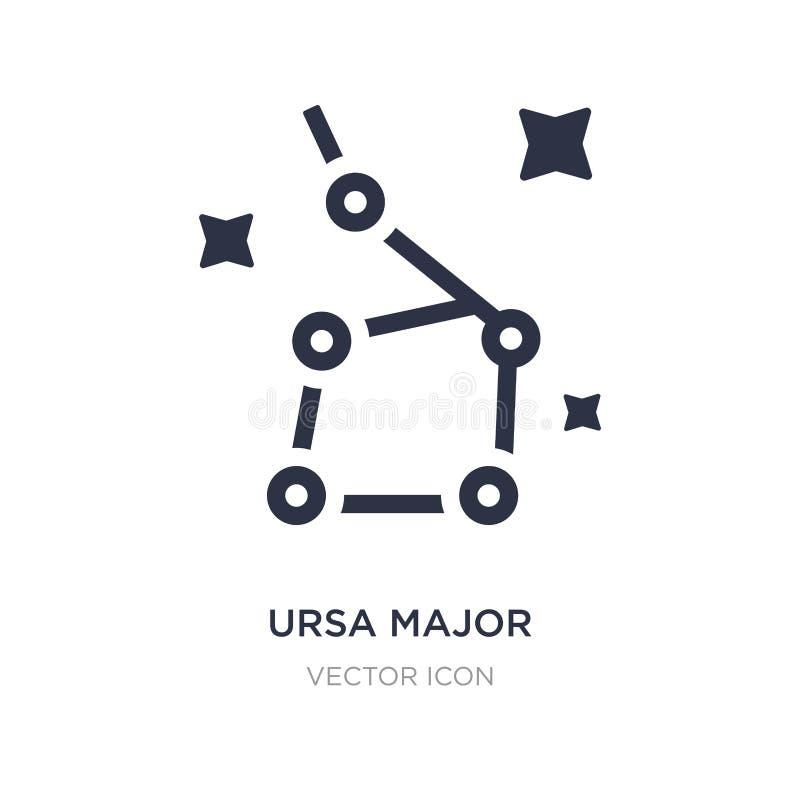 icona principale di ursa su fondo bianco Illustrazione semplice dell'elemento dal concetto di astronomia illustrazione di stock