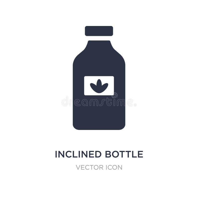 icona propensa della bottiglia su fondo bianco Illustrazione semplice dell'elemento dal concetto di bellezza royalty illustrazione gratis