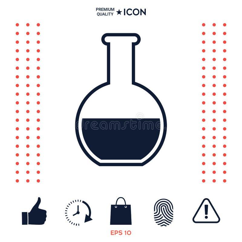Download Icona In Provetta Di Simbolo Illustrazione Vettoriale - Illustrazione di medico, farmacologia: 117977379