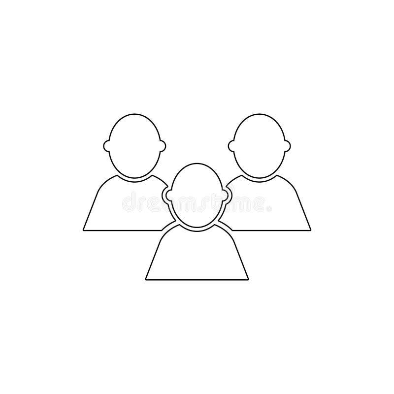 Icona pubblica del profilo degli utenti della gente del gruppo degli amici del forum dei contatti I segni ed i simboli possono es royalty illustrazione gratis