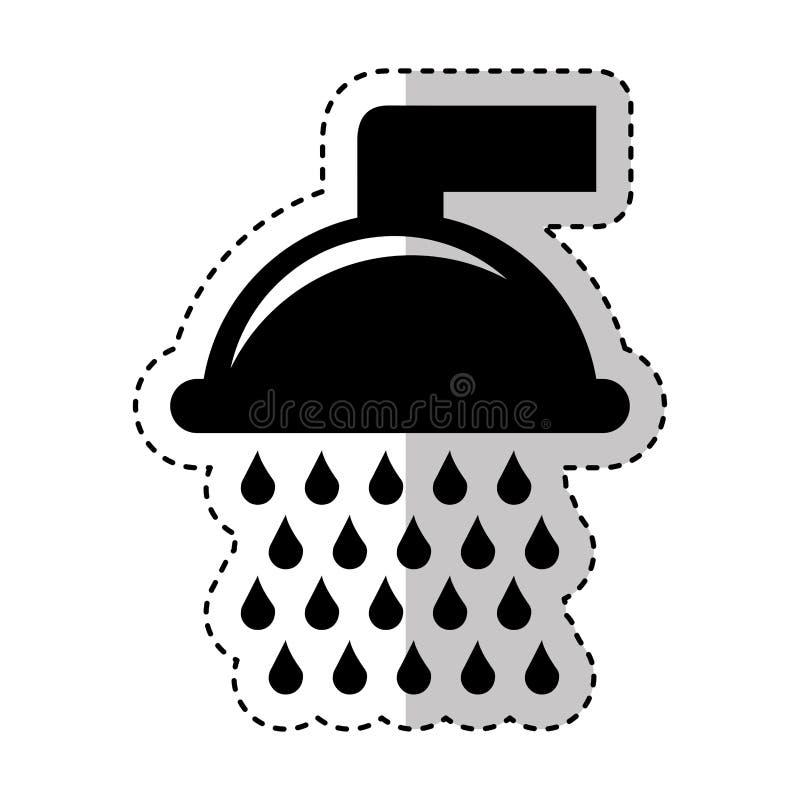 Icona pura del rubinetto di acqua illustrazione vettoriale