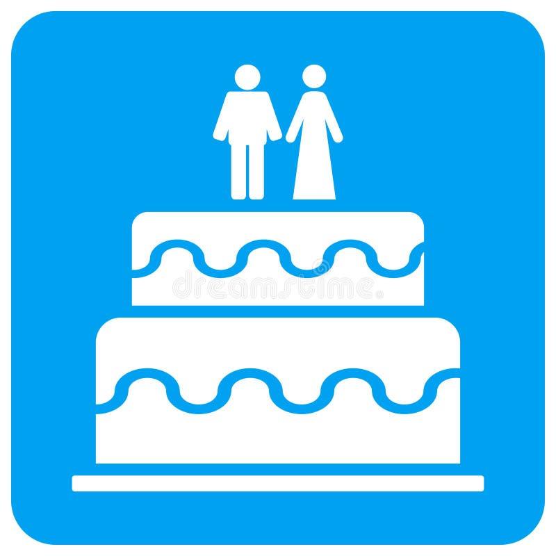 Icona quadrata del quadro televisivo arrotondata dolce di matrimonio illustrazione di stock