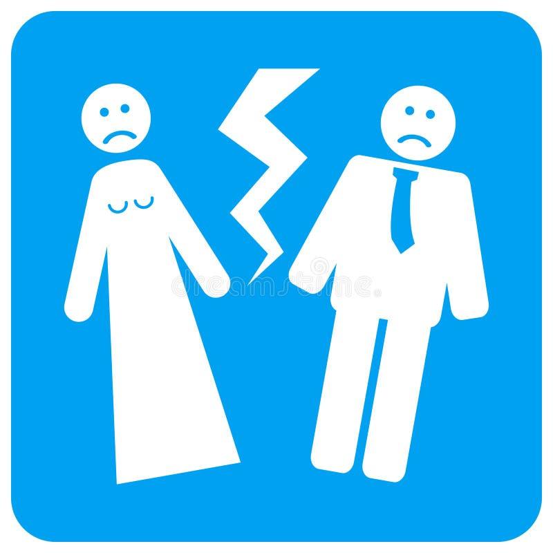Icona quadrata del quadro televisivo arrotondata nozze rotte illustrazione vettoriale