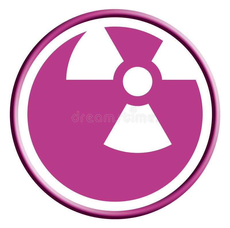Icona radioattiva di modo illustrazione di stock