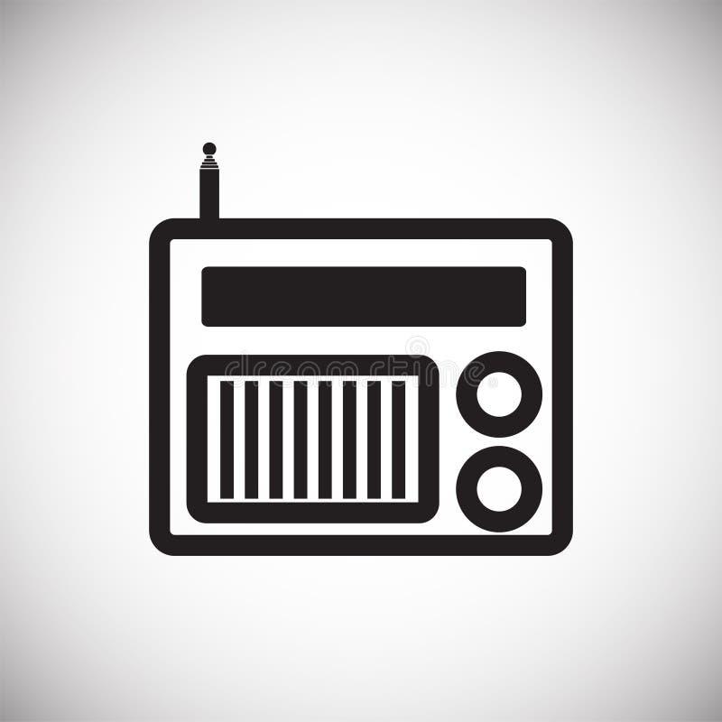 Icona radiofonica domestica su fondo bianco per il grafico ed il web design, segno semplice moderno di vettore Concetto del Inter royalty illustrazione gratis