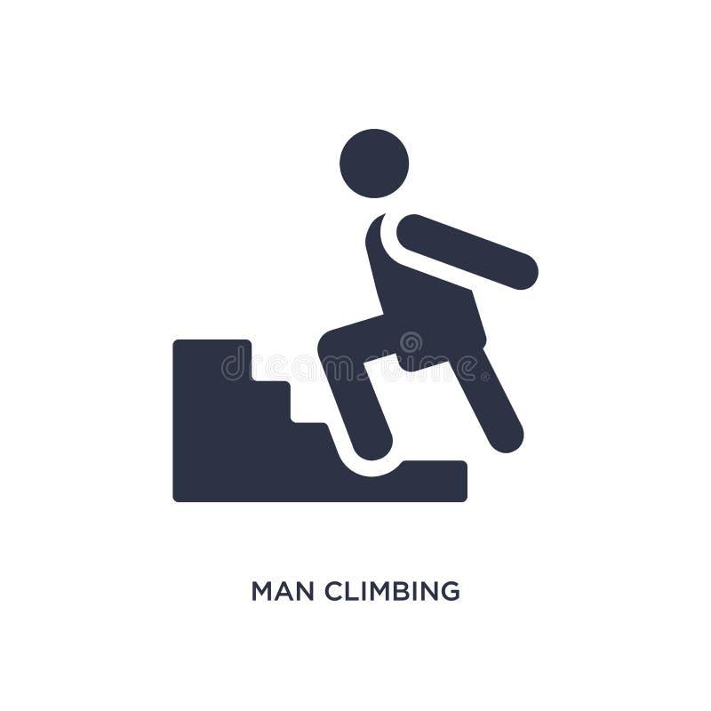 icona rampicante dell'uomo su fondo bianco Illustrazione semplice dell'elemento dal concetto di comportamento illustrazione vettoriale