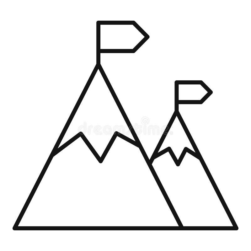 Icona rampicante della montagna, stile del profilo illustrazione vettoriale