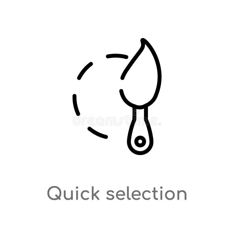 icona rapida di vettore di selezione del profilo linea semplice nera isolata illustrazione dell'elemento dal concetto della geome illustrazione vettoriale