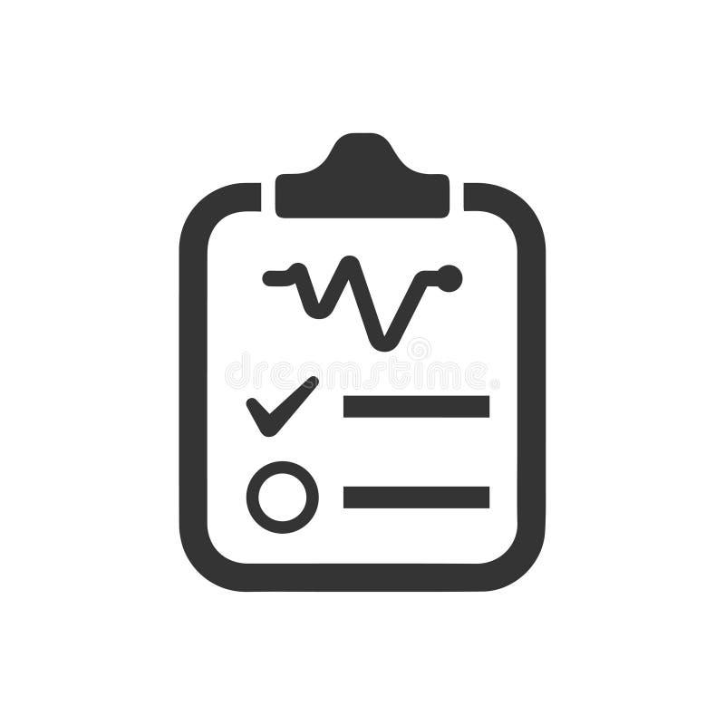 Icona rapporto di diagnosi illustrazione vettoriale
