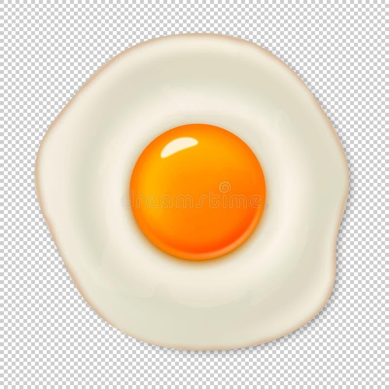 Icona realistica dell 39 uovo fritto di vettore isolata su - Modello di uovo stampabile gratuito ...