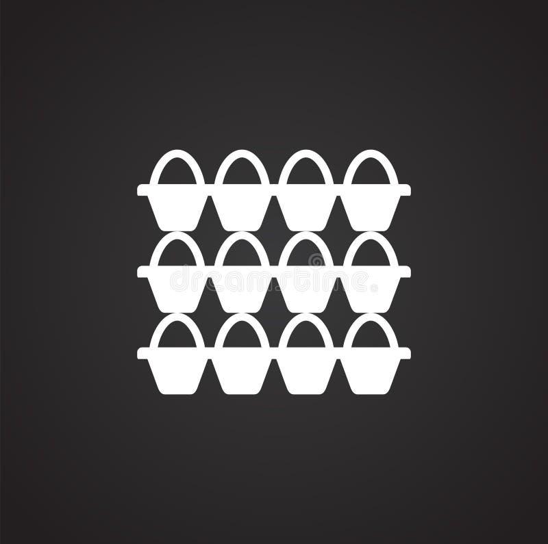 Icona relativa dell'uovo su fondo per il grafico ed il web design Illustrazione semplice Simbolo di concetto di Internet per il s royalty illustrazione gratis
