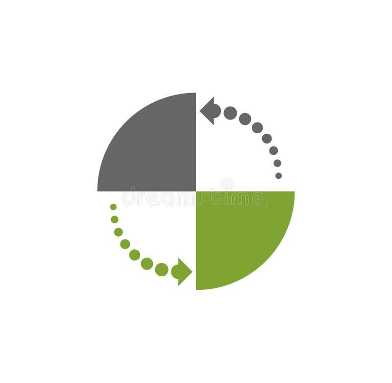 Icona relativa di carico su fondo per il grafico ed il web design Illustrazione semplice Simbolo di concetto di Internet per il s royalty illustrazione gratis