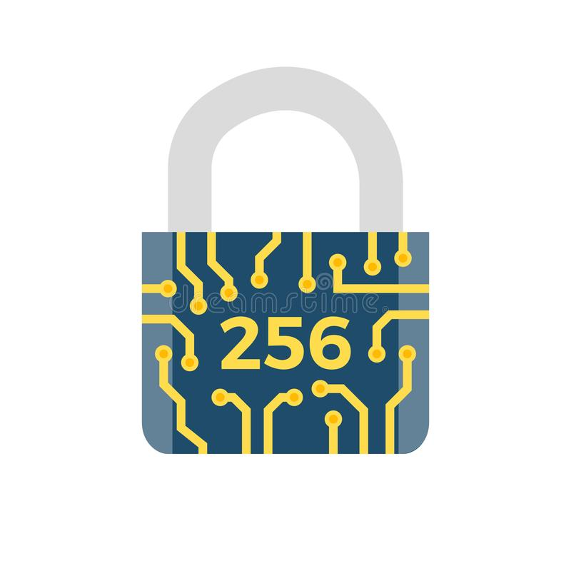 Icona relativa di vettore di SHA 256 illustrazione vettoriale