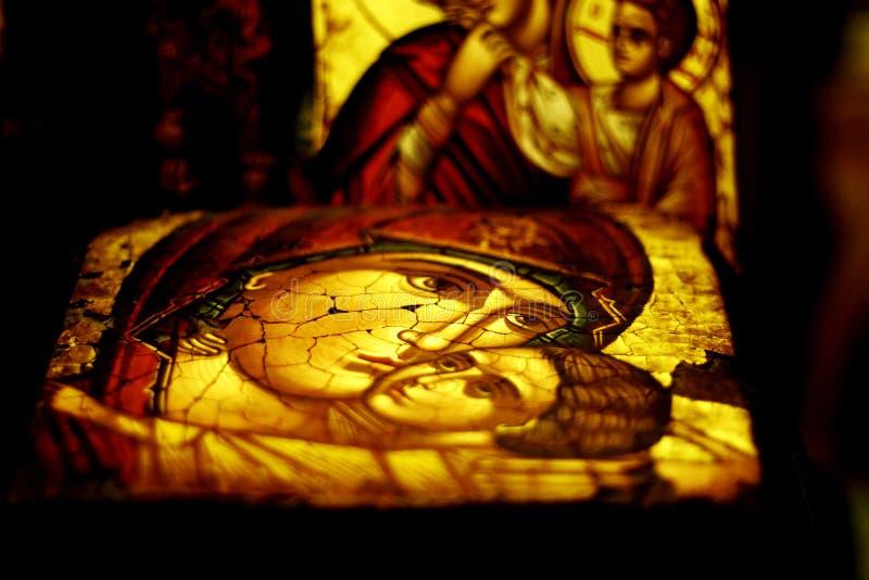 Icona religiosa antica immagini stock