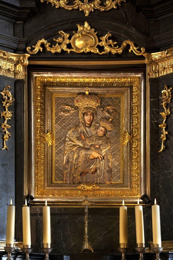 Icona religiosa - Cracovia - Polonia fotografie stock