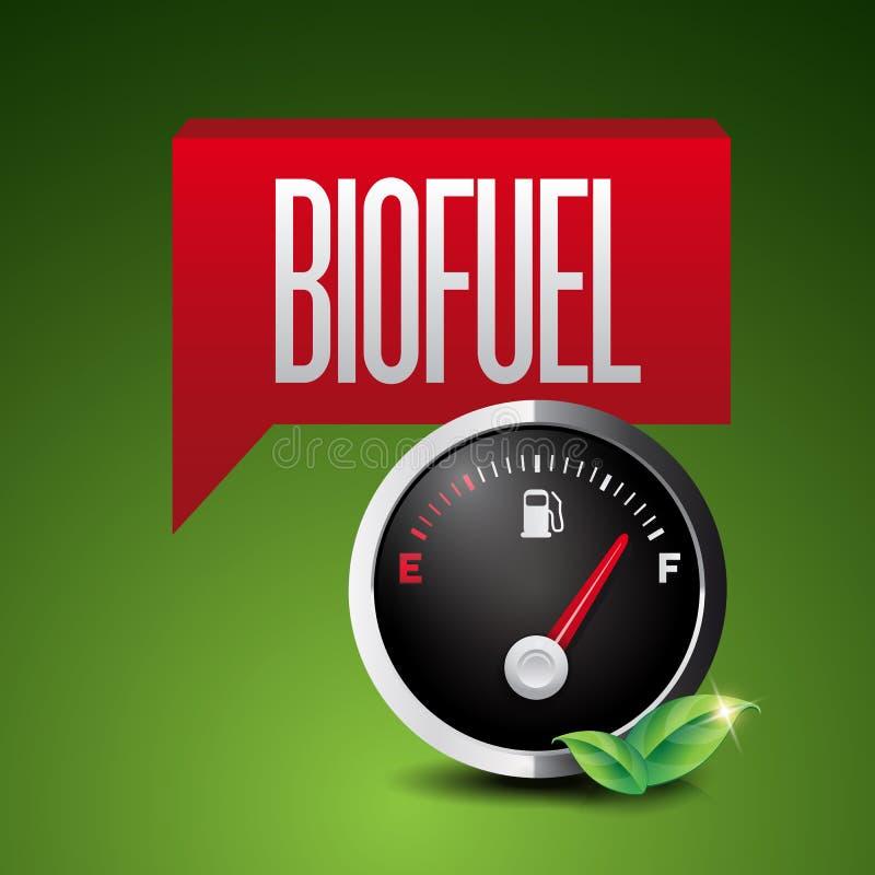 Icona rinnovabile del combustibile biologico illustrazione di stock
