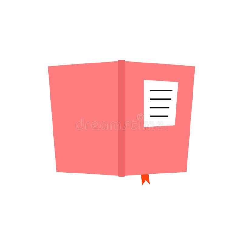 Icona rosa del diario del libro illustrazione vettoriale